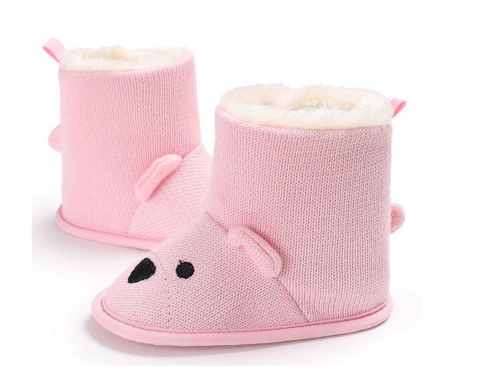 ... Dětské boty- teplé zimní válenky s kožíškem šedé fd6d001332