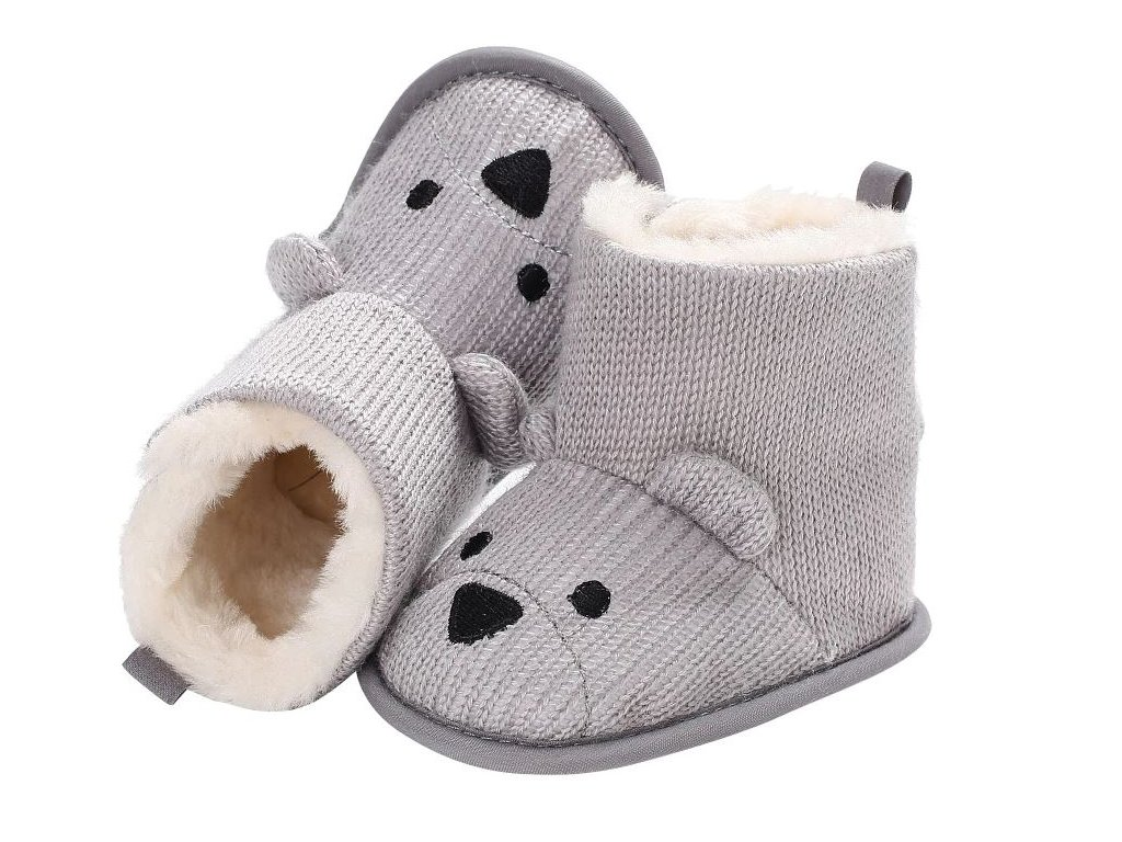 Dětské boty- teplé zimní válenky s kožíškem šedé bd30e226b9