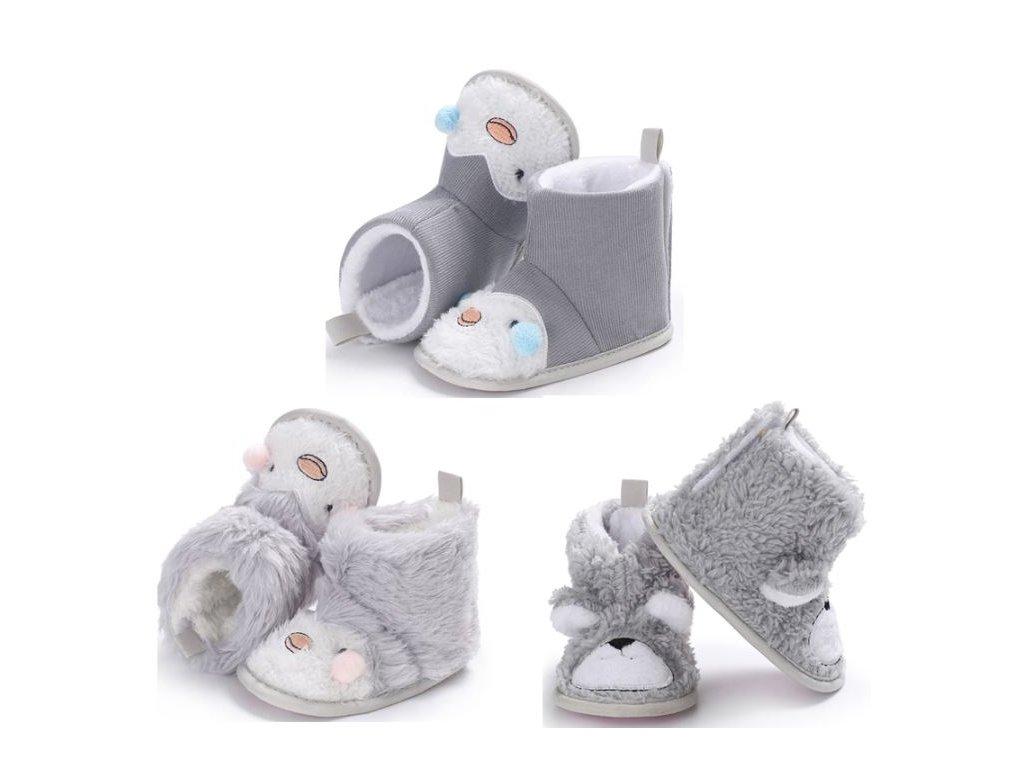 Dětské boty- teplé zimní válenky s kožíškem do kočárku 3 varianty ... 1bf880730b