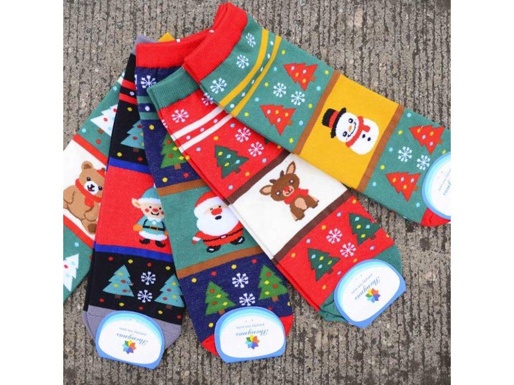 Vánoční inspirace- dlouhé ponožky s Vánočním motivem více druhu ... 885e8b6810
