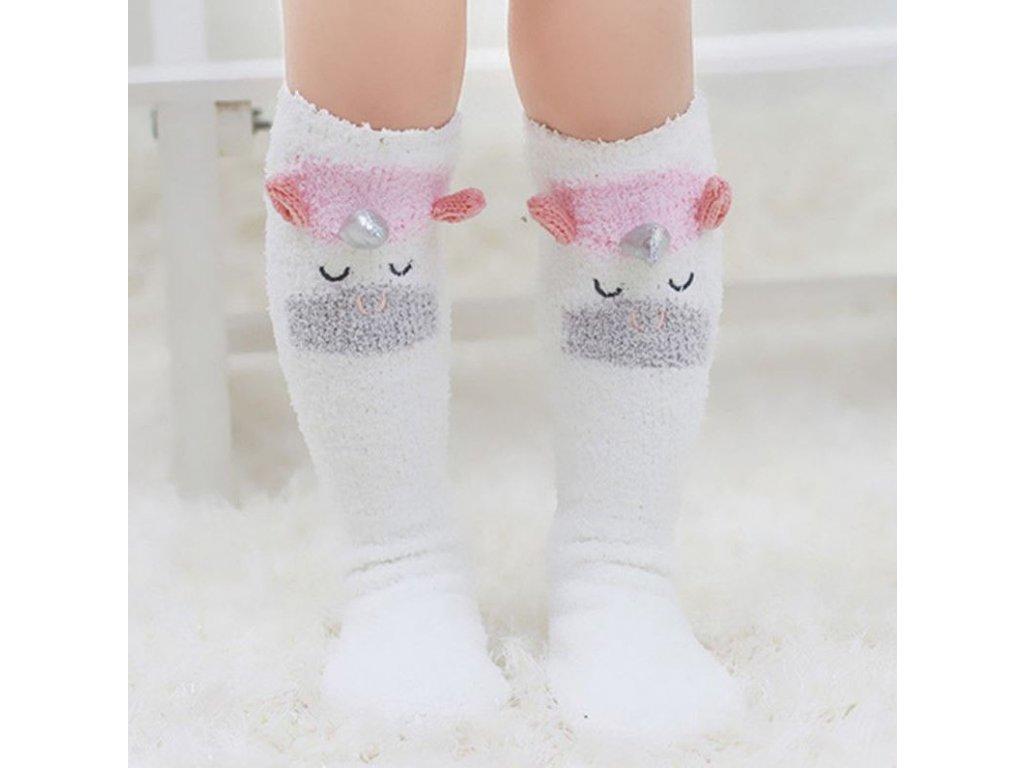 Dětské oblečení- krásné teplé dlouhé ponožky s motivem JEDNOROŽCE- VÝPRODEJ  SKLADU bd38a0d82d