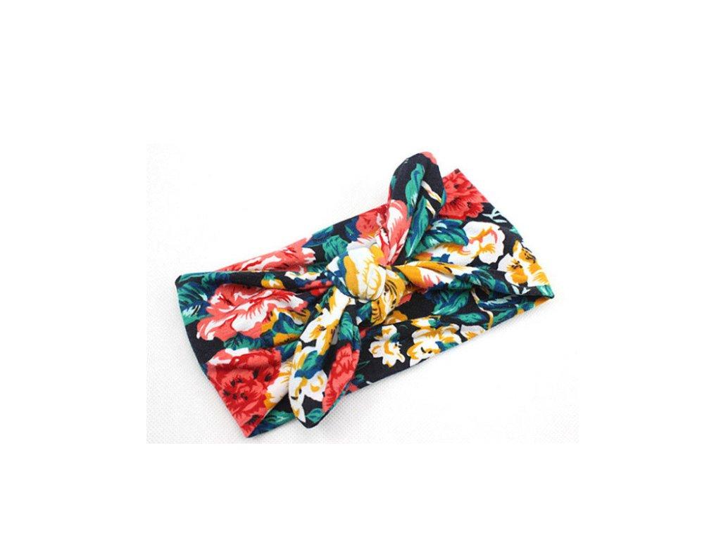 fc584077974 Dětská elastická čelenka s mašlí pro děti od 0-4 let- 4 barvy - FLARO.CZ