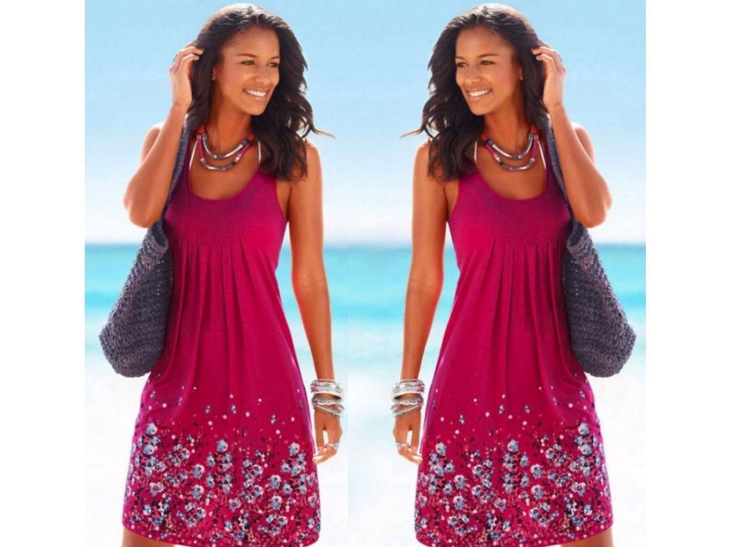 21f7314fc Dámské pohodlné letní plážové šaty pro plnoštíhlé - FLARO.CZ