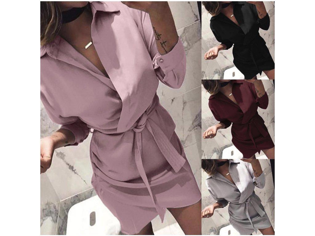 edaab1544fe1 Dámské letní plážové košilové šaty více barev - FLARO.CZ
