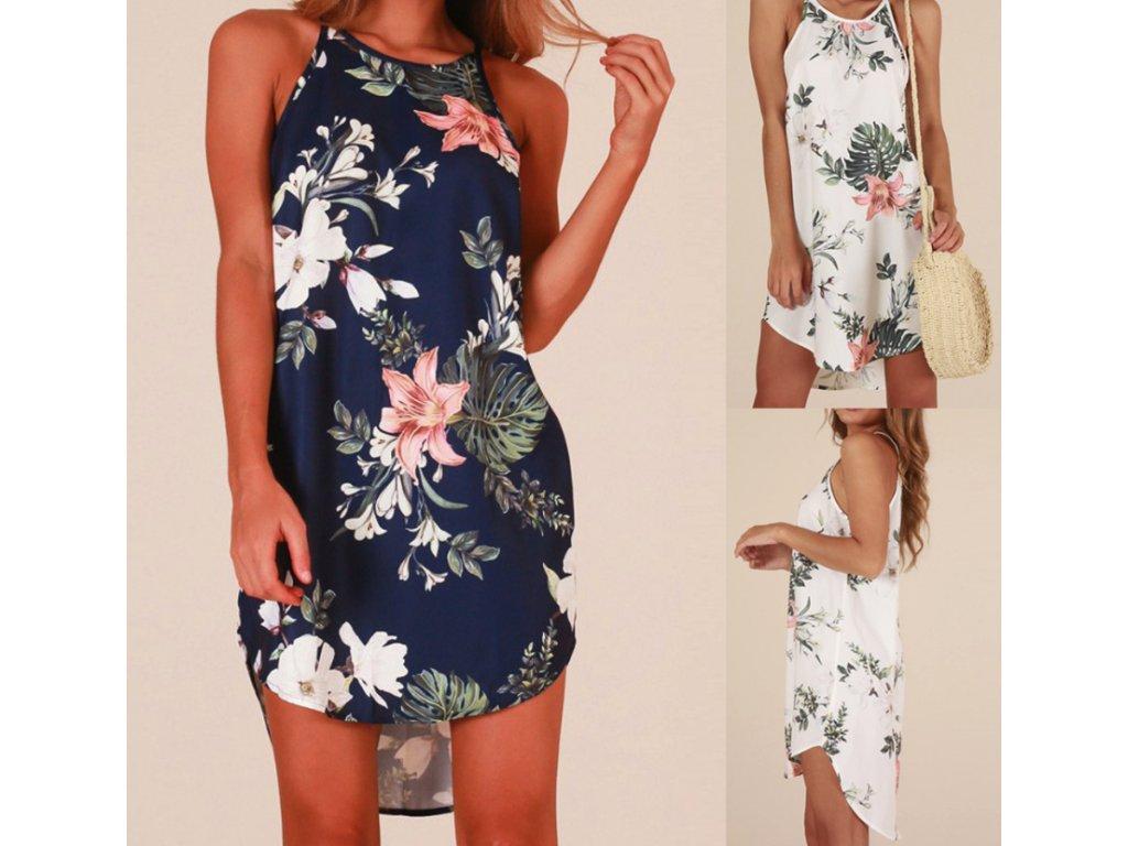51650da6a7c9 Dámské letní plážové šaty modré a bílé NOVINKA - FLARO.CZ