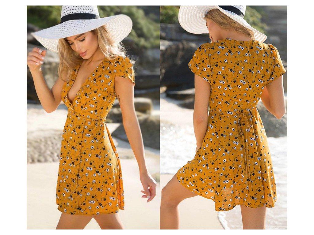 Dámské letní květované šaty AKCE (Velikost XXL) ecefda5ad5