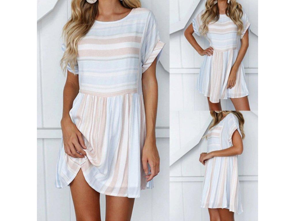 Volné letní šaty (Velikost XL) e46378aa01d
