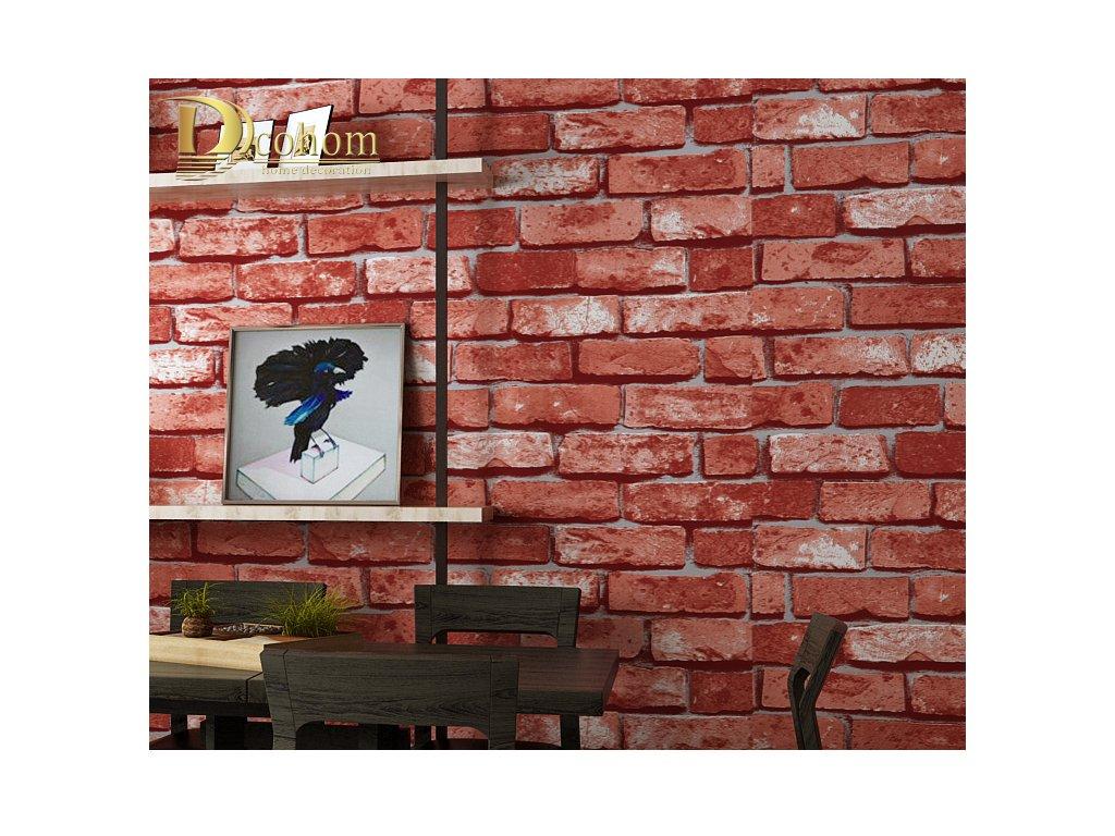 Stylová 3D tapeta na zeď s motivem cihla - cihlové tapety na zeď - tapetová  imitace cihlové zdi - FLARO.CZ 6cea61d05c