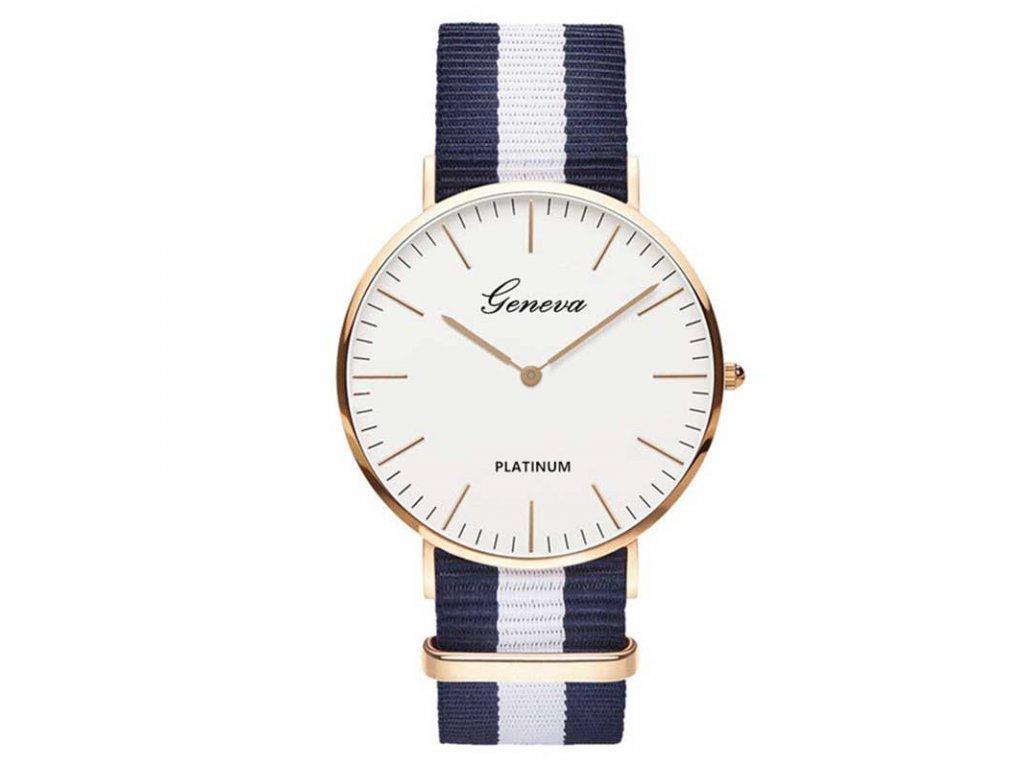 46034bed7 Dámské hodinky Geneva s textilním páskem Výprodej Skladu - FLARO.CZ
