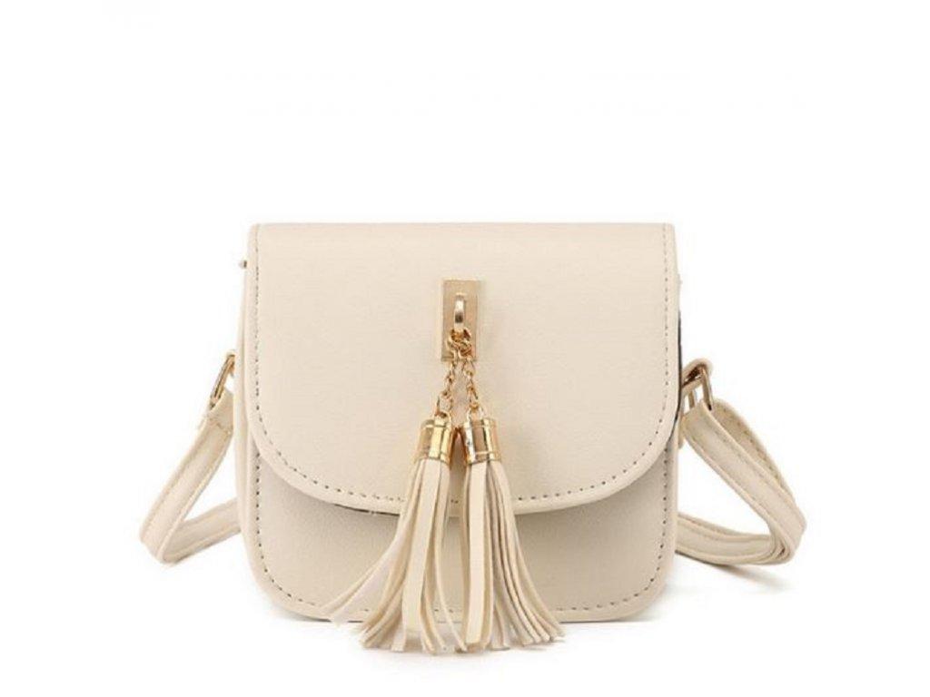 25bb9623973 Moderní dámská kabelka s třásněmi přes rameno růžová béžová šedá nebo černá  barva výprodej ...