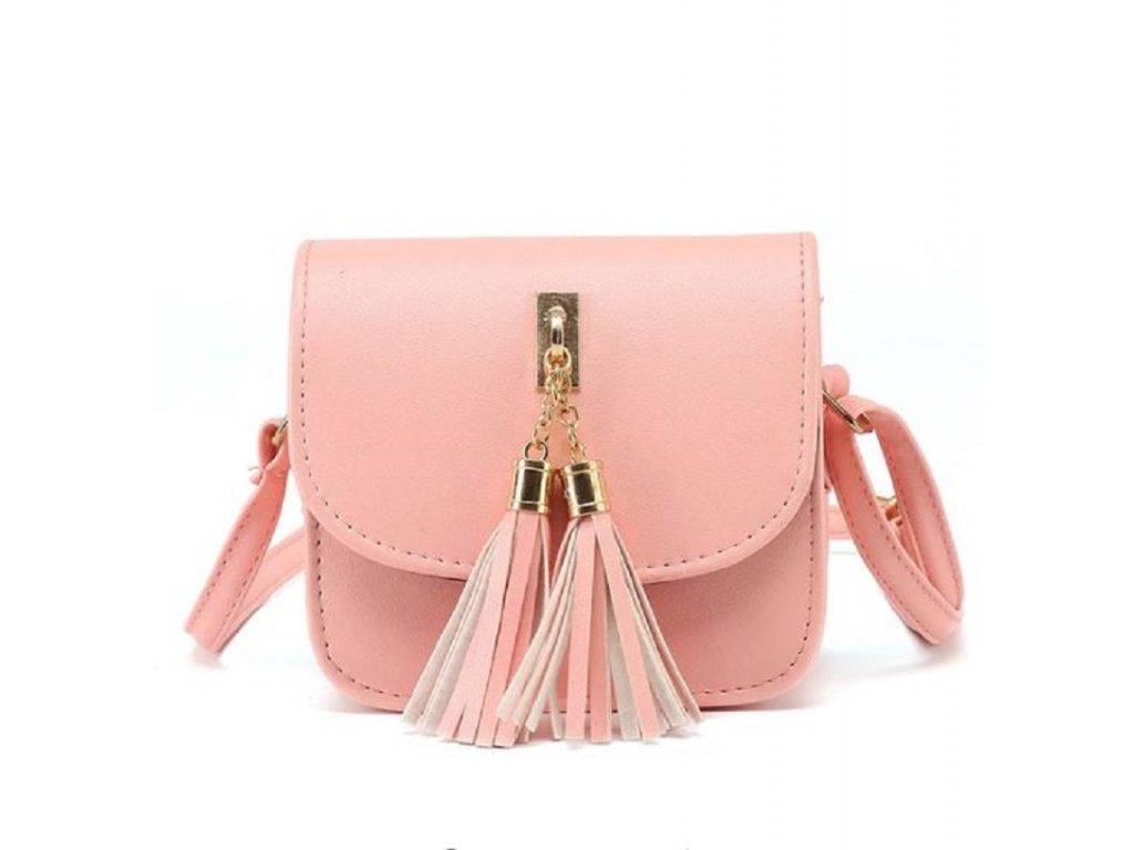 4729441c638 ... Moderní dámská kabelka s třásněmi přes rameno růžová béžová šedá nebo  černá barva výprodej
