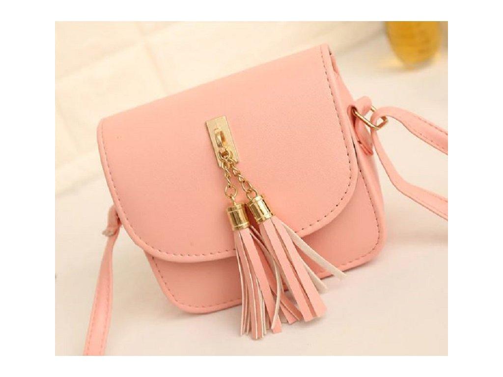 c09b9283027 Moderní dámská kabelka s třásněmi přes rameno růžová béžová šedá nebo černá  barva výprodej