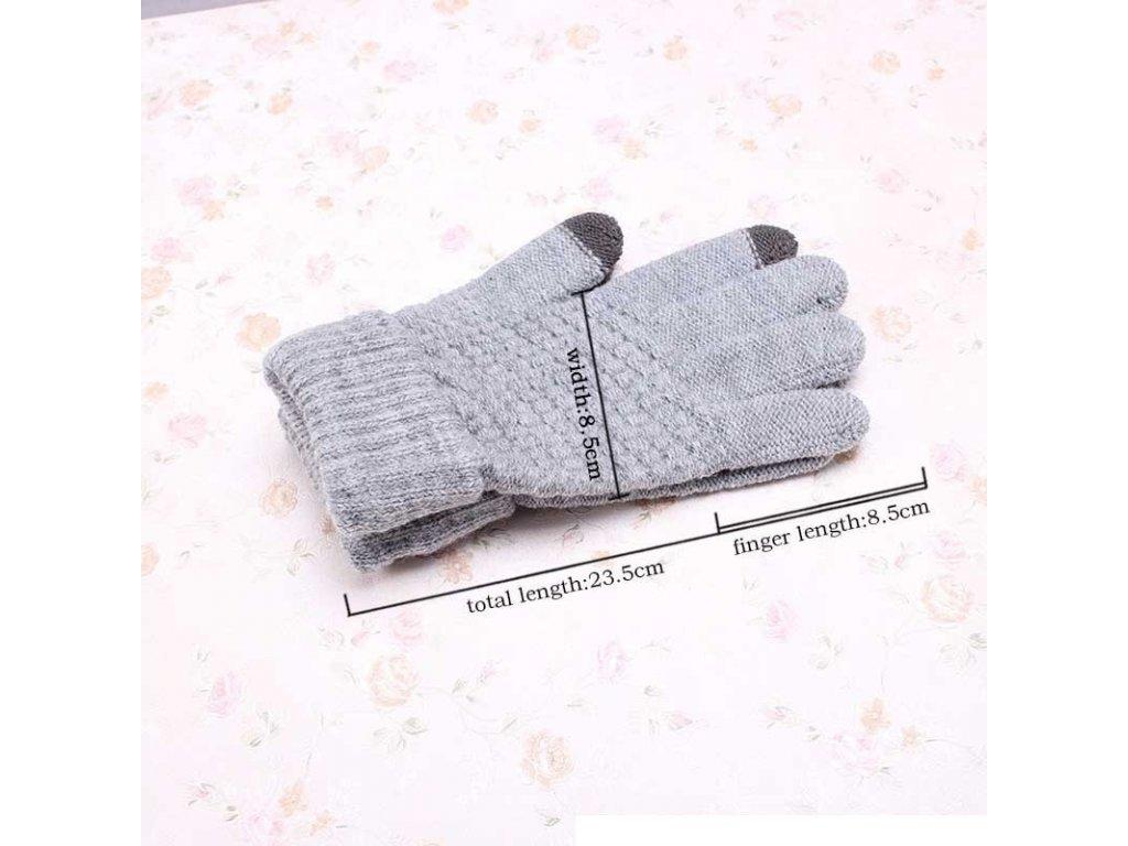6b4cc2348e5 Dámské podzimní zimní teplé rukavice dotykové na mobilní telefon - tip na  dárek pro ženu k Vánocům - FLARO.CZ