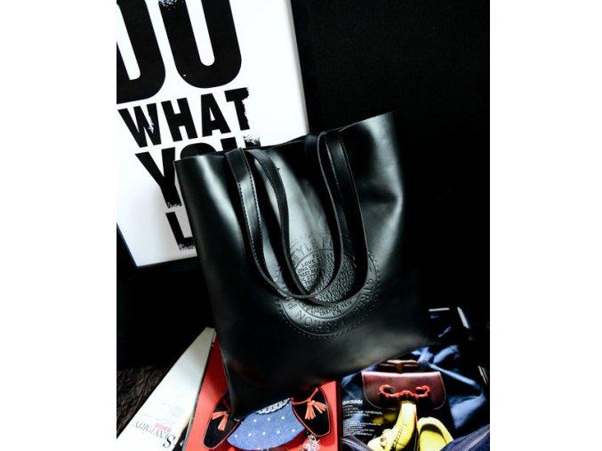 Dámská kabelka do ruky a přes rameno černá