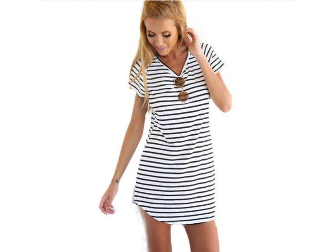 jednoduché letní šaty pro každodenní nošení (Velikost XL)