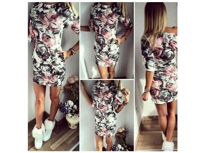 Luxusní dámské stylové šaty + DOPRAVA ZDARMA (Velikost XL)