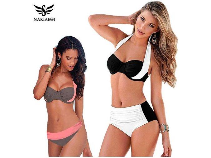 Luxusní dvoudílné dámské plavky pro každou příležitost (Barva Hnědá, Velikost XXXL)
