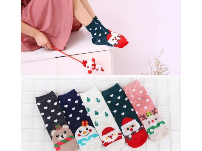 Vánoční inspirace- krásné ponožky s Vánočním motivem více druhu
