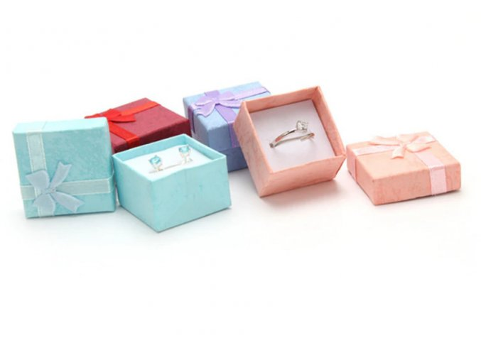 Vánoční dekorace - Vánoční papírové dárkové krabičky, organizéry na prstýnky a naušnice, 4 barvy