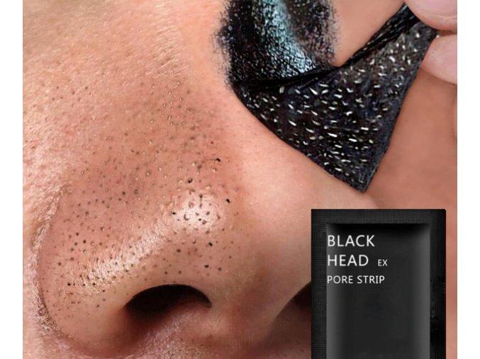Maska na pleť slupovací na černé tečky 10ks