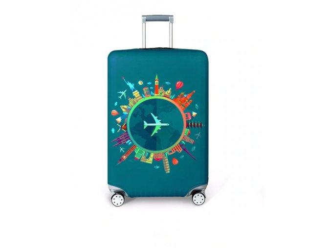Elastický potah na kufr, zavazadlo- různé motivy
