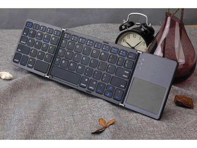 Cestovní skládací bezdrátová klávesnice