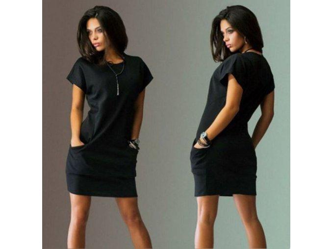 Dámské pohodlné letní šaty s krátkým rukávem AKCE (Velikost XXL)
