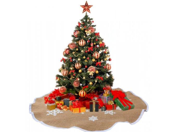 Vánoční dekorace- podložka, koberec pod Vánoční stromeček s vločkami- 2 velikosti