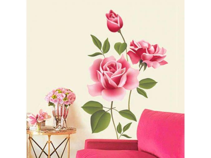 Dekorace do bytu samolepky na zeď dekolepky tapety na zeď samolepící tapety - tapeta růže