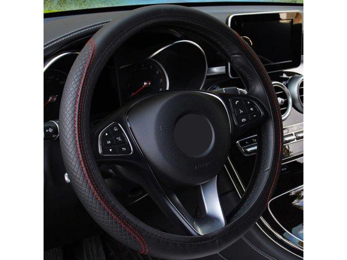 Dárky pro muže Potřeby pro auto auta - univerzální kožený potah na volant - 6 variant