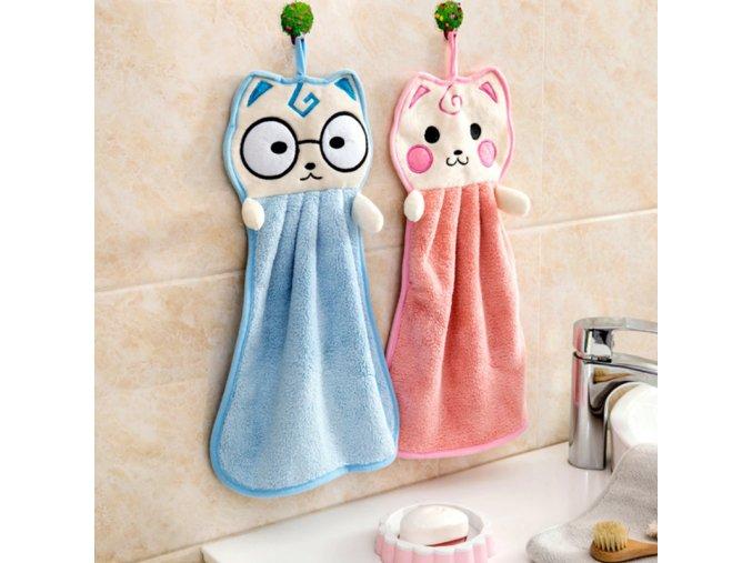 Dětská osuška/ručník na ruce s motivem zvířátka