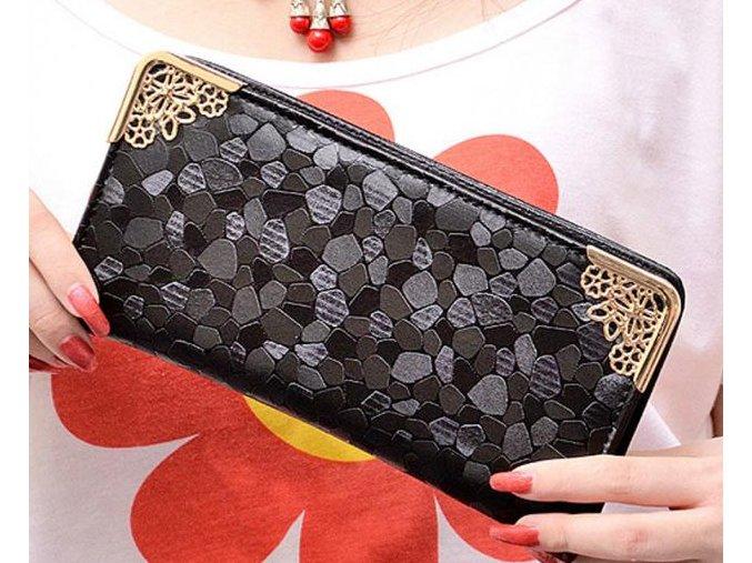 Dámská vysoce luxusní černá peněženka