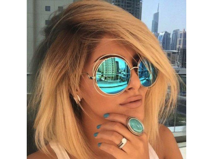 Luxusní slnečné okuliare ZRKADLOVKY (Velikost Streiborné)