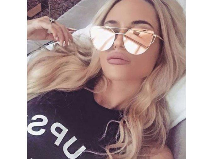Štýlové slnečné okuliare (Velikost Fialové)