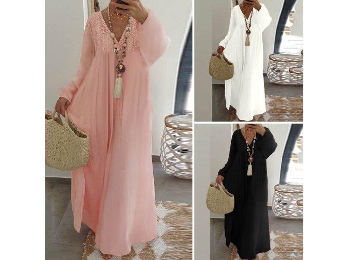 Pohodlné dámské letní dlouhé šaty pro plnoštíhlé až 5XL NEW