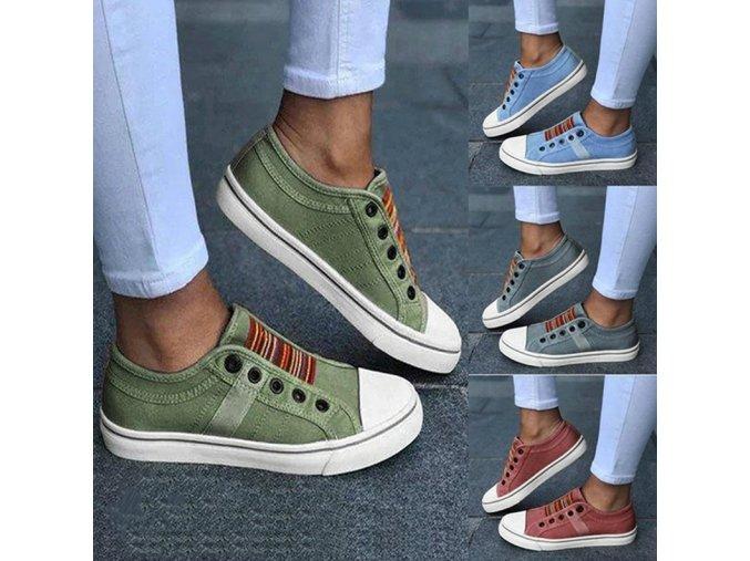 Dámské boty- Dámské volnočasové letní tenisky