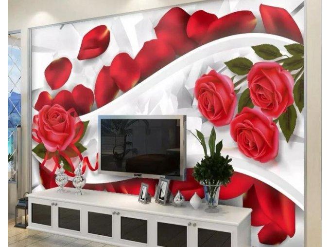 Tapety na zeď- samolepící tapety MODERNÍ RŮŽE dekorace více variant