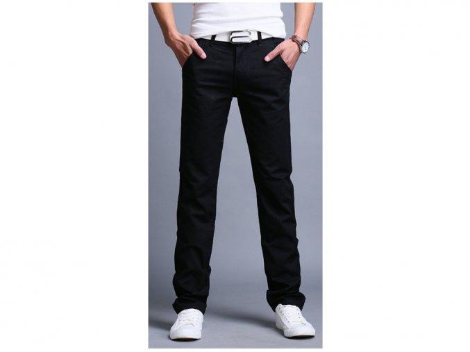 Pánské černé slim kalhoty