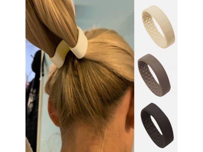 Účesy - gumičky - dámský plastový držák na culík - výprodej skladu