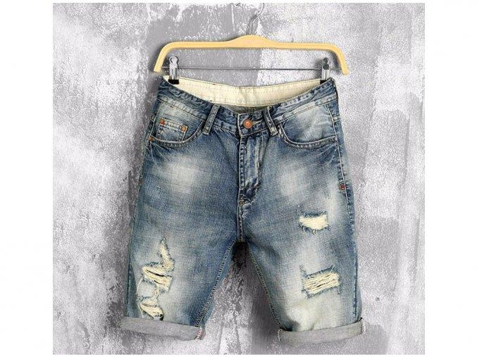 Pánské riflové džínové kraťasy