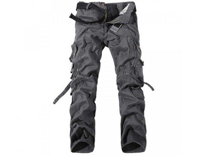 Pánské šedé kalhoty kapsáče