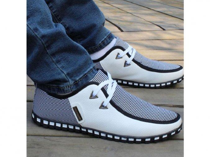 Pánské elegantní bílé boty
