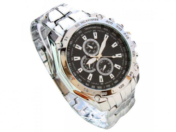 Pánské společenské elegantní stříbrné hodinky