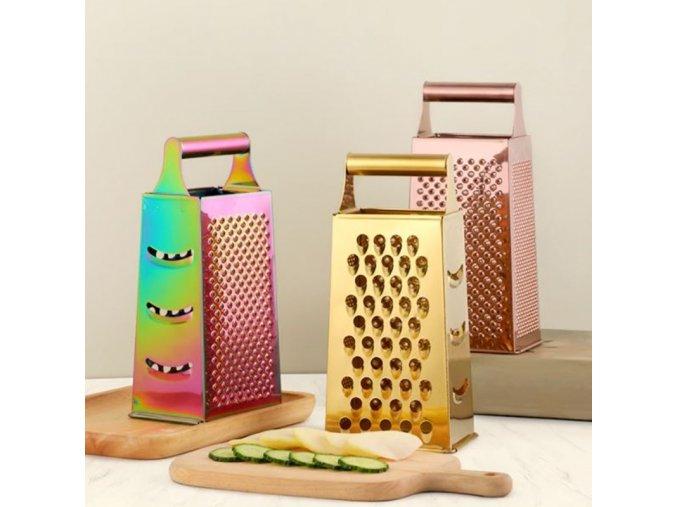 Kuchyně - nerezové struhadlo v metalických barvách - vaření  - struhadlo