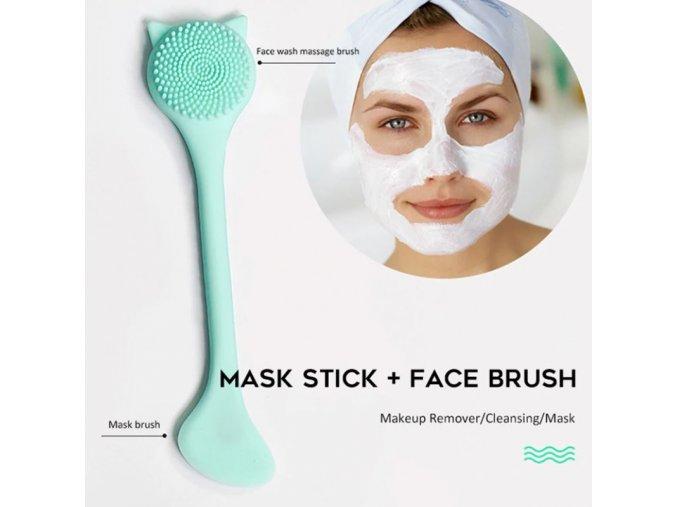 Kosmetika - silikonový čistící kartáček na obličej - čištění pleti - výprodej skladu