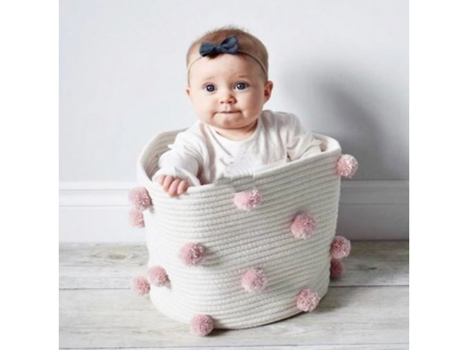 Hračky - košík na dětské hračky nebo prádlo - košík - proutěný košík - dekorace