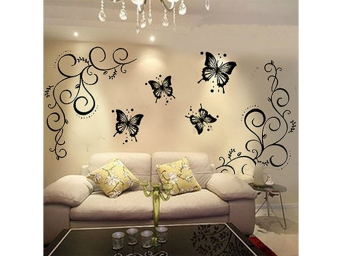 Samolepicí tapeta na zeď - motýlci