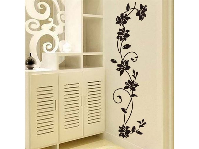 Samolepící dekorace na zeď s motivem květiny