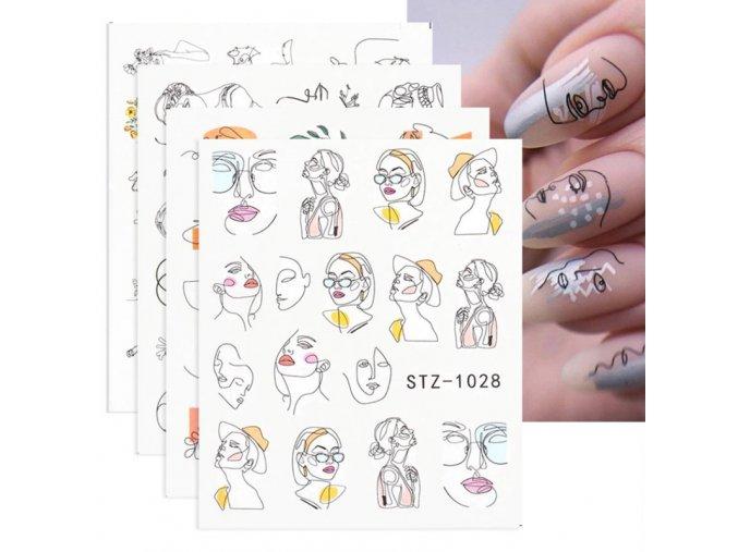 Nehty - sady dekoračních samolepek na nehty - gelové nehty - modeláž nehtů - výprodej skladu
