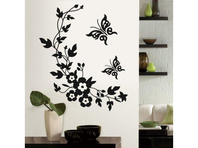 Dekorační nalepovací květiny na zeď